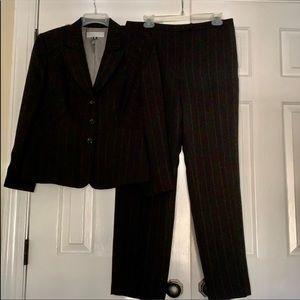 Tahari petite pinstripe suit